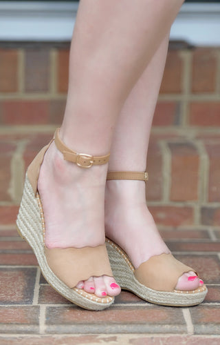 Forever Charming Wedges - Camel