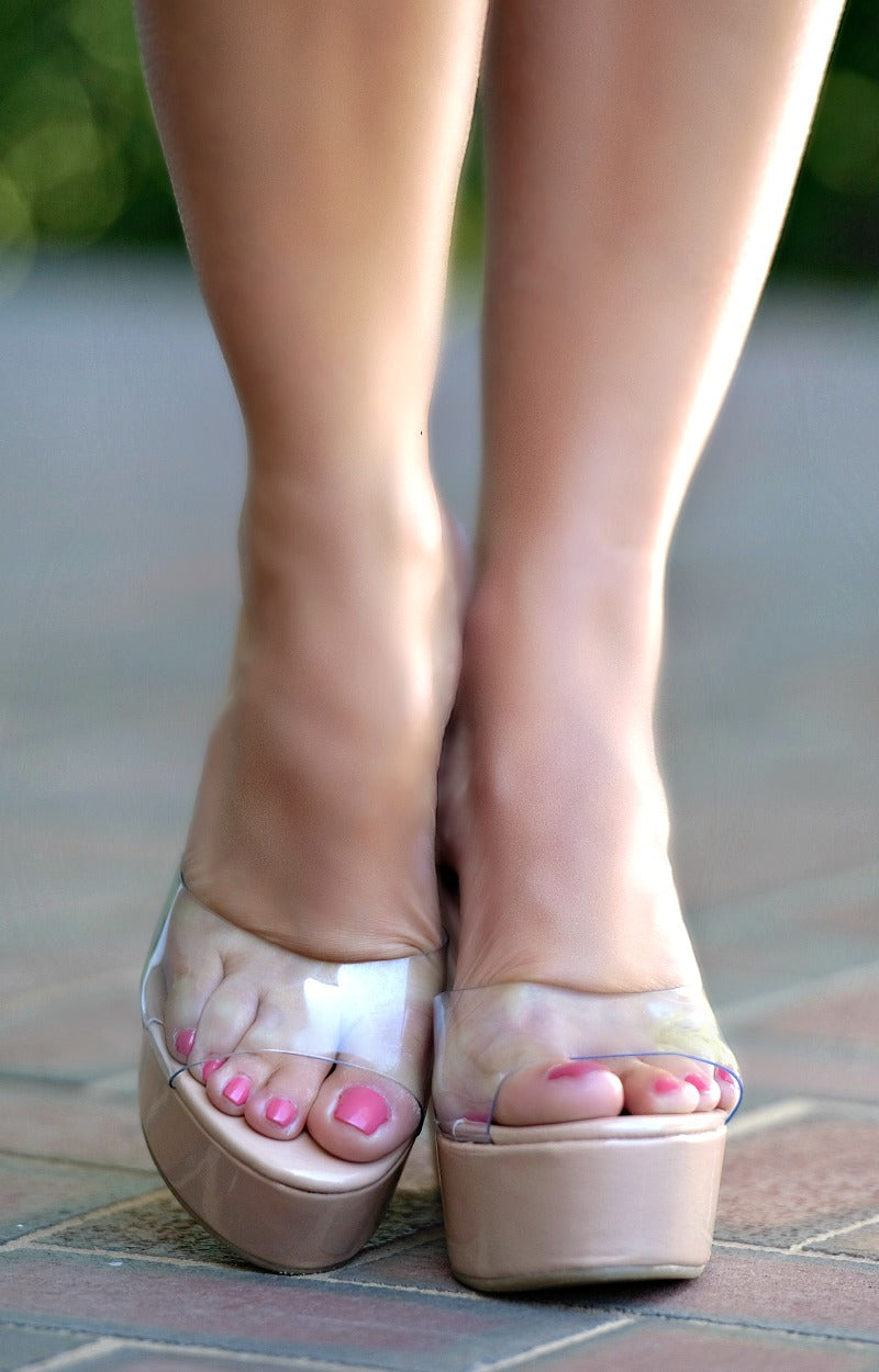 Leading The Way Wedges - Nude