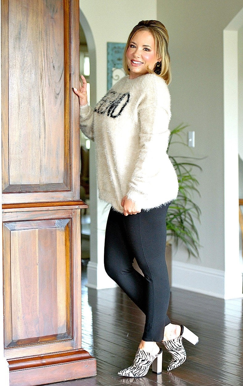 Cheers To The Weekend Sweater - Taupe