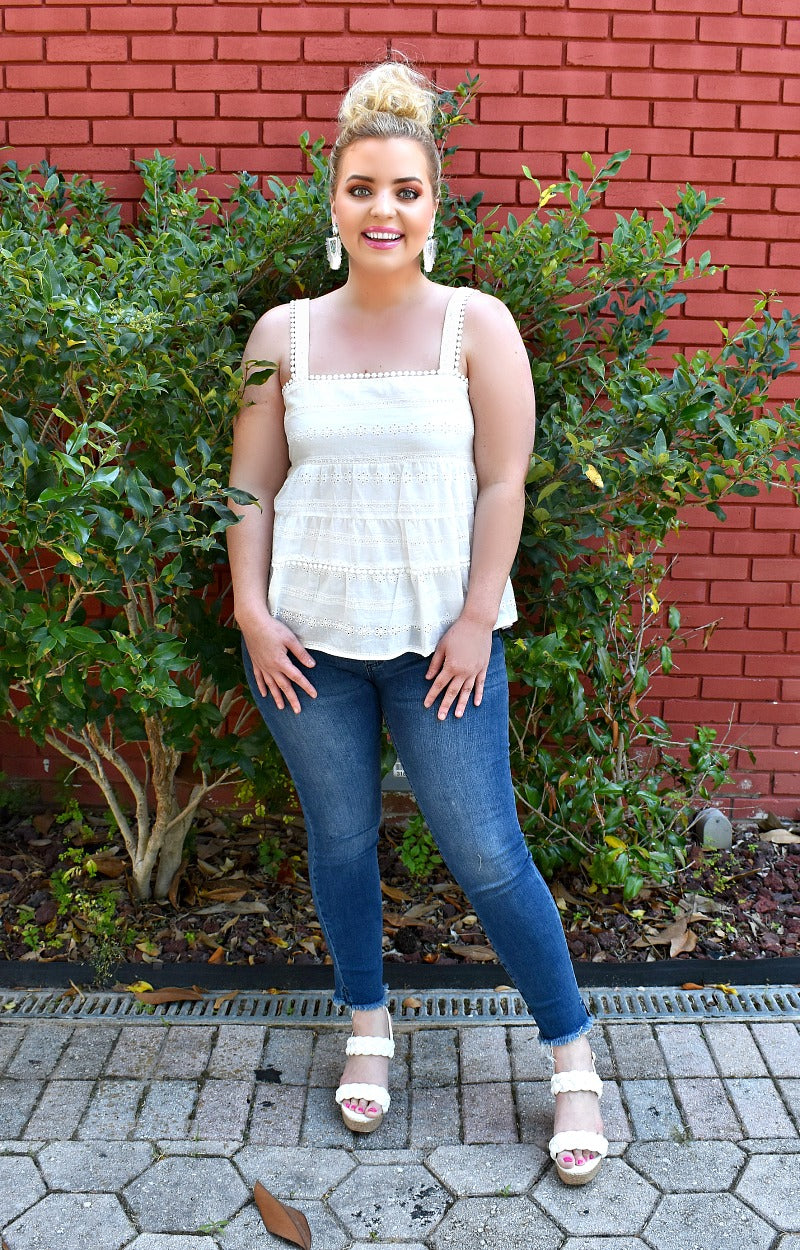 Charmed By You Eyelet Top - Ivory