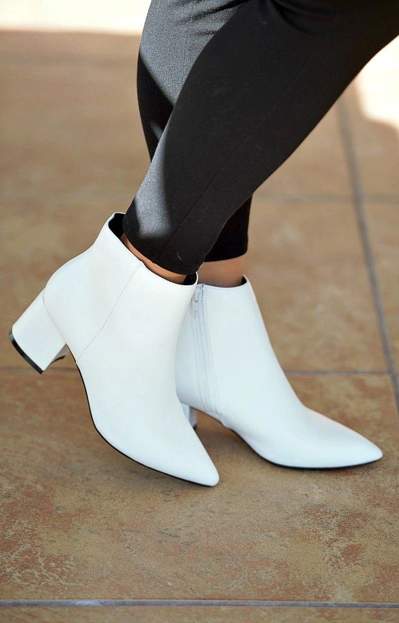 Load image into Gallery viewer, My Sidekick Ankle Booties - White