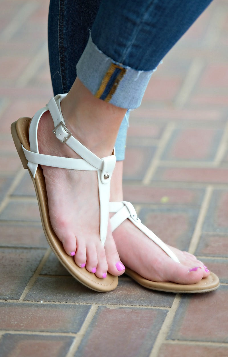 Pure Innocence Sandals - White