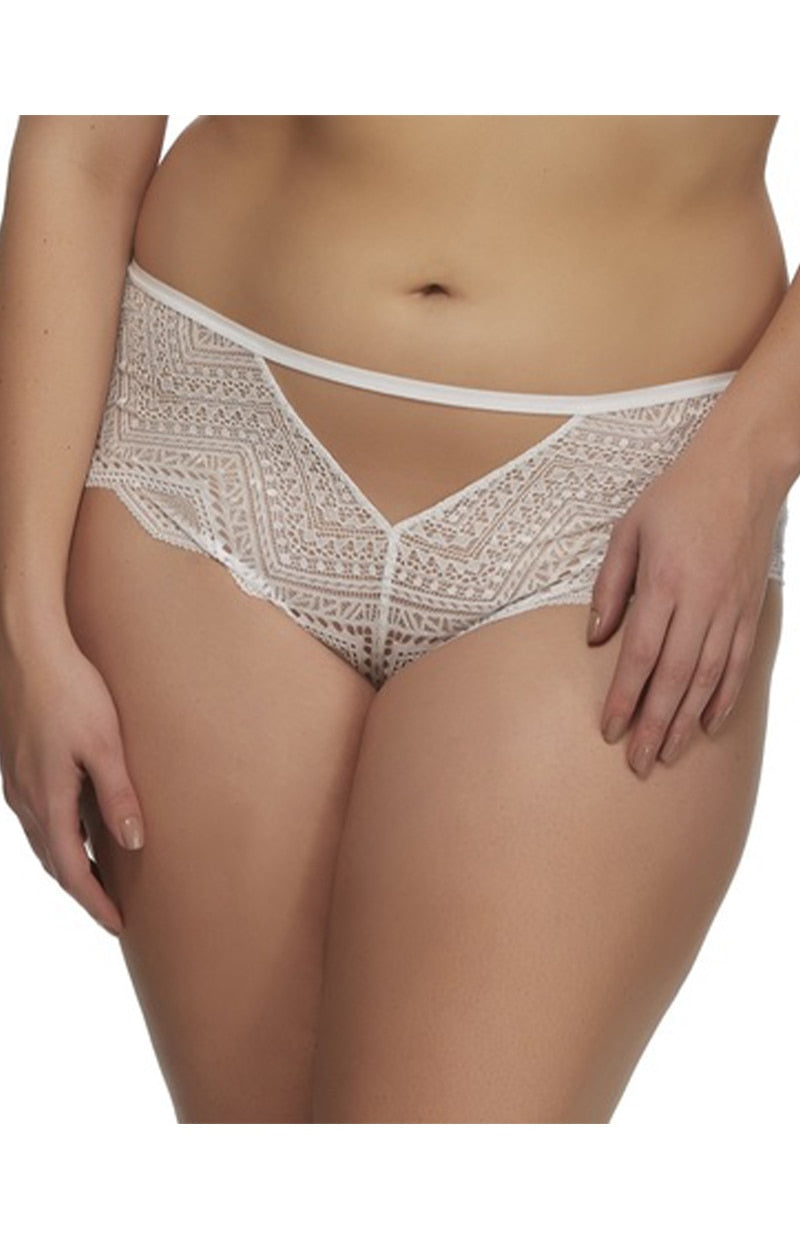 The Stunning Cutout Hipster Panty - White