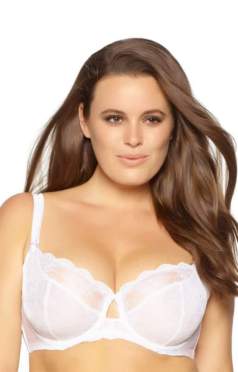 The Captivate Unlined Bra - White