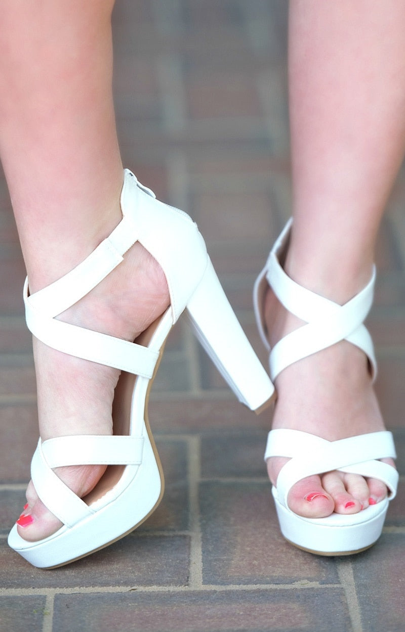 A Step Above The Rest Heels - White
