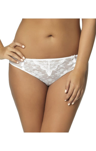 The Captivate Lace Bikini Panty - White