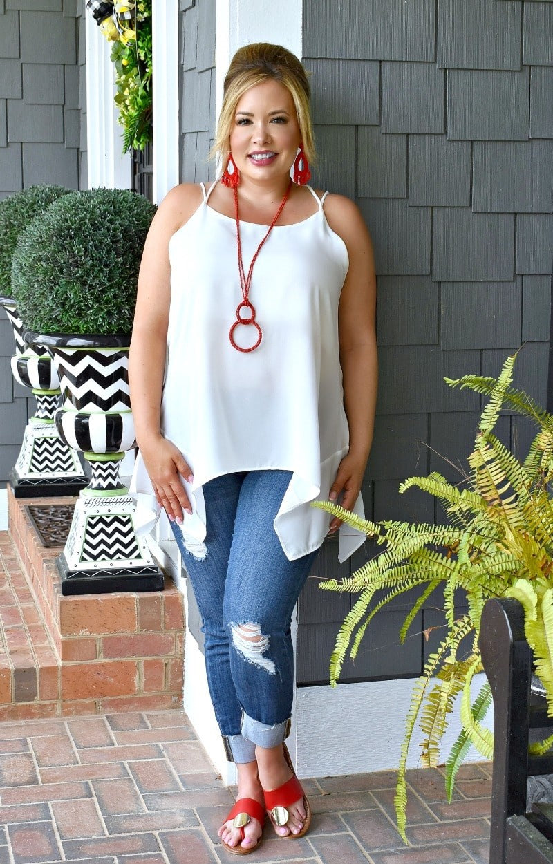 Go With The Flow Top - White