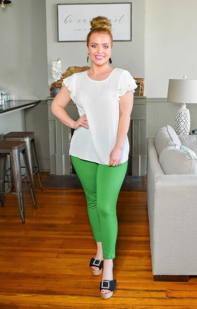 Load image into Gallery viewer, Very Versatile Crop Pants - Green