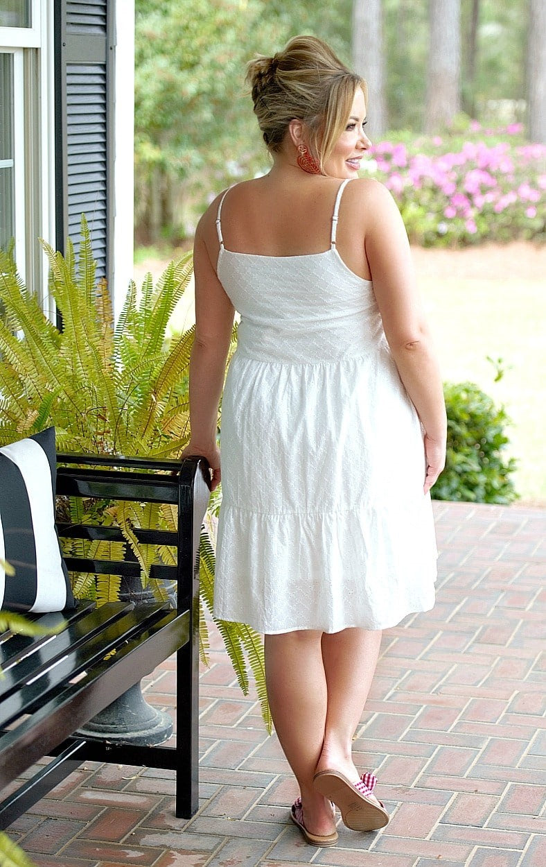Load image into Gallery viewer, Attracted To You Eyelet Dress - White