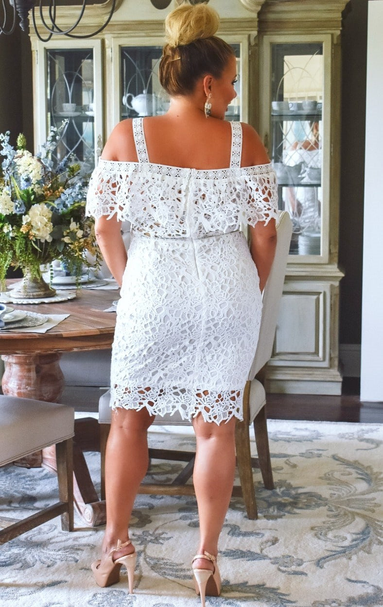 Load image into Gallery viewer, Music To My Ears Lace Dress - White