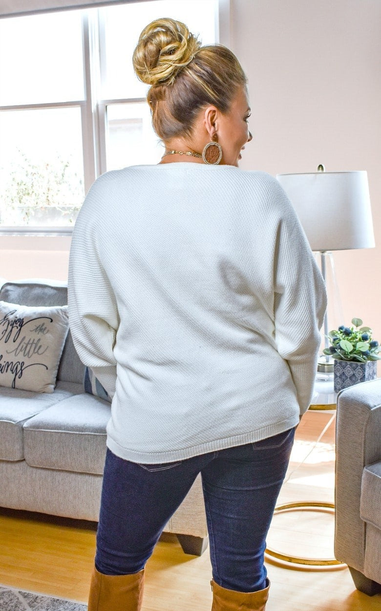 Load image into Gallery viewer, Straight Shot Sweater - Ivory