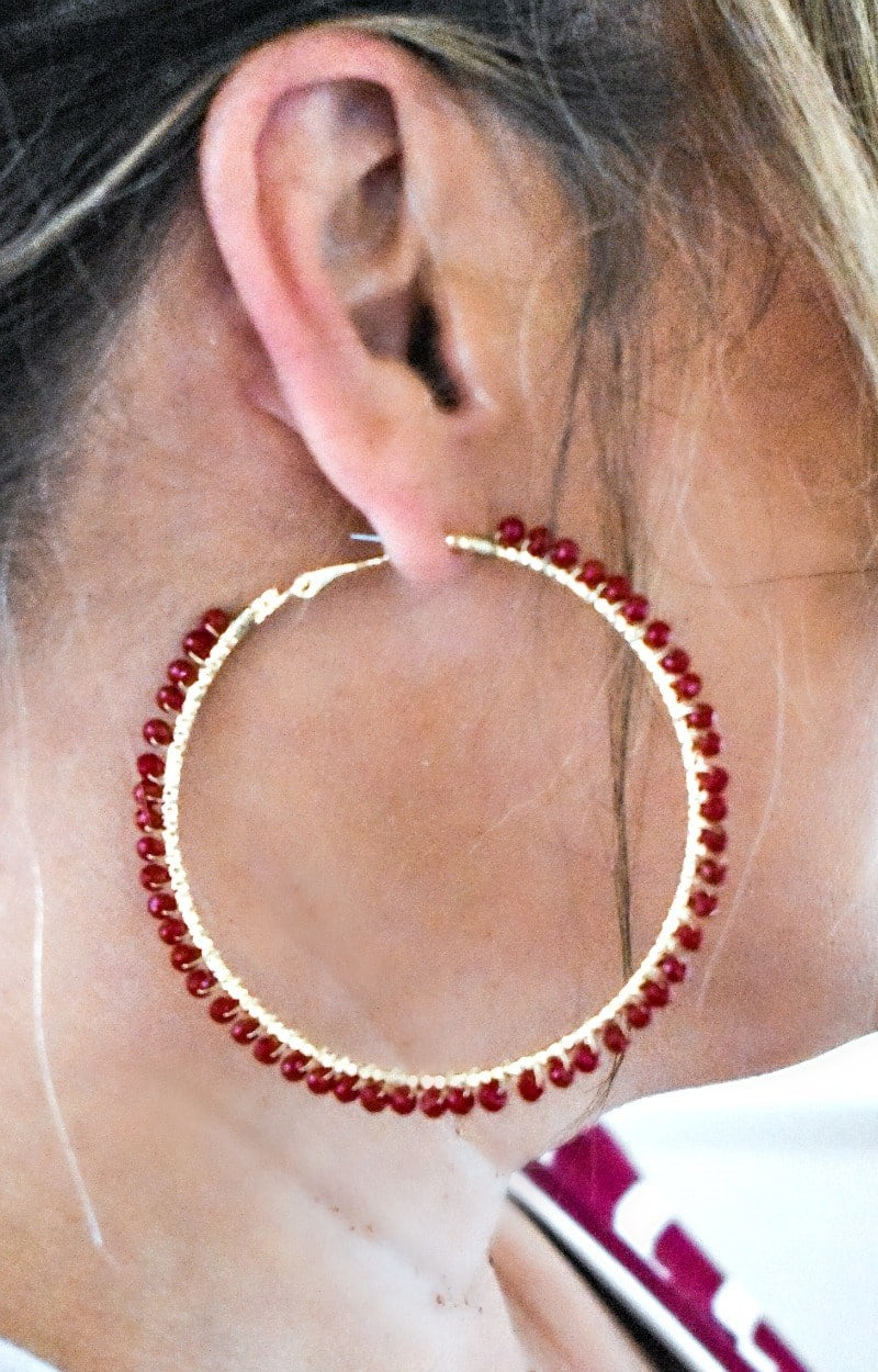 Load image into Gallery viewer, Tried And True Earrings - Burgundy