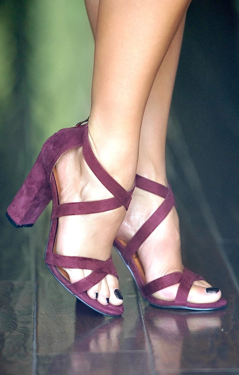 Want It More Heels - Burgundy