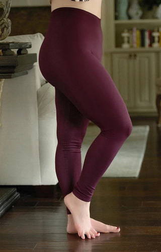 So Very Luxe Ankle Length Leggings - Plum