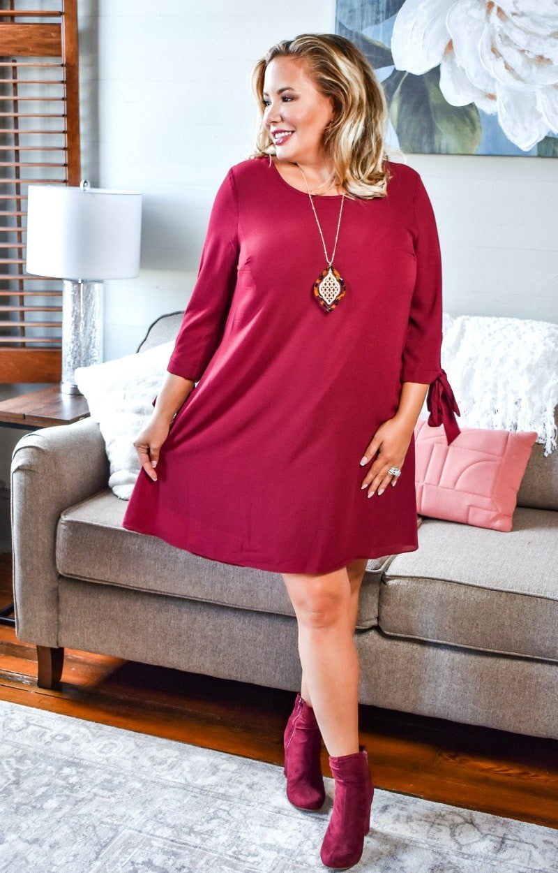 Run The World Dress - Burgundy