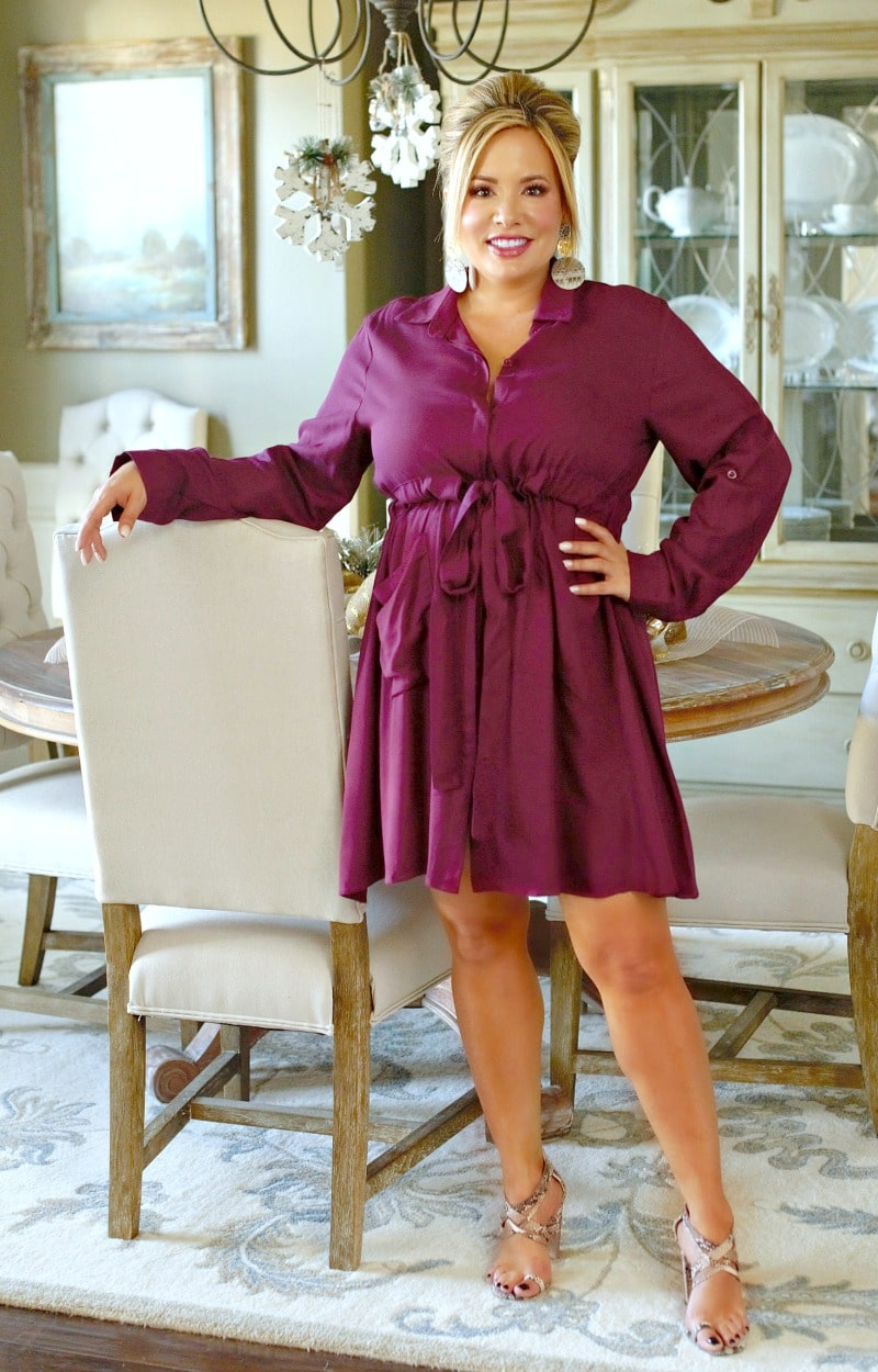 Load image into Gallery viewer, Strictly Business Dress - Burgundy