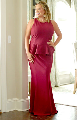 Dance With Me Dress - Burgundy