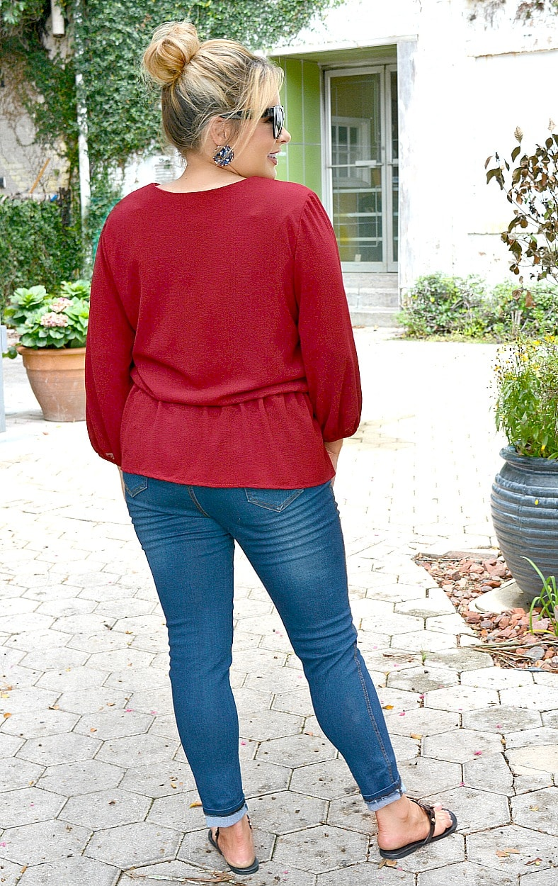 Load image into Gallery viewer, My Secret Admirer Top - Burgundy