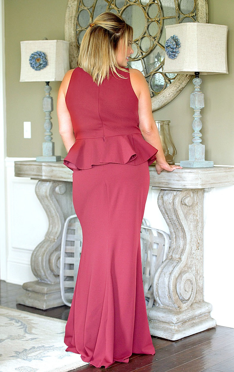 Load image into Gallery viewer, Dance With Me Dress - Burgundy