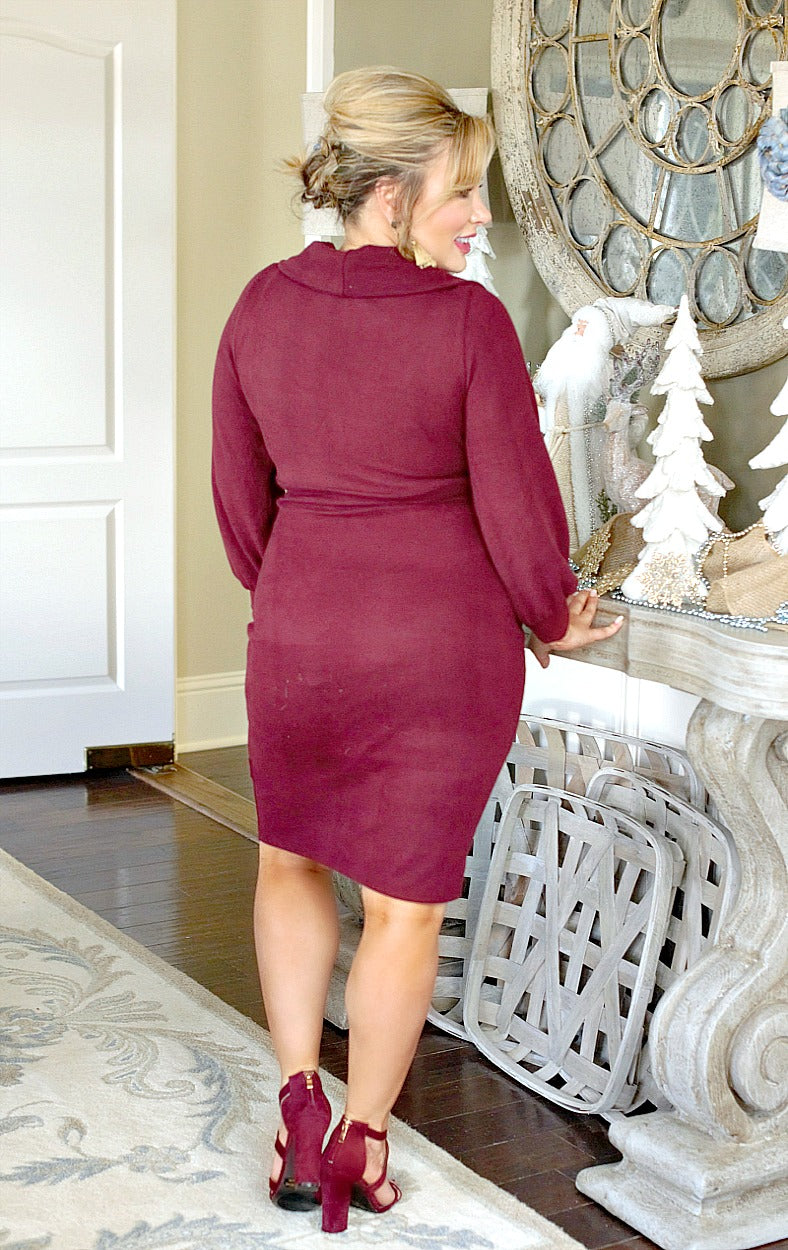 High Standards Dress - Burgundy