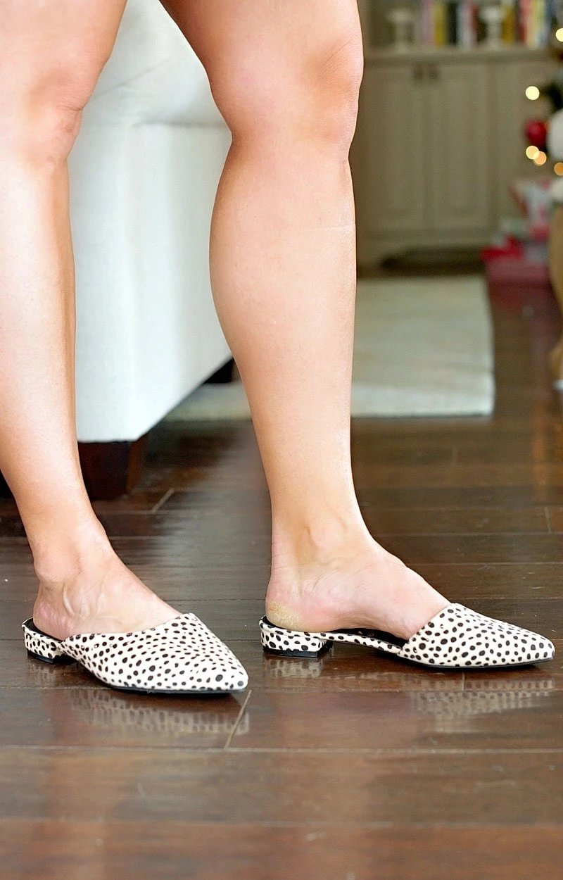 Within Striking Distance Leopard Print Mules