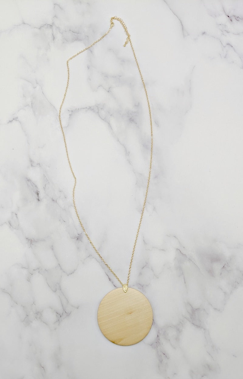 Losing Time Necklace - Natural