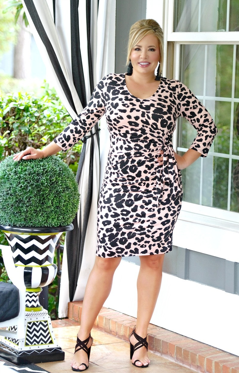 Yours Forever Leopard Print Dress - Pink