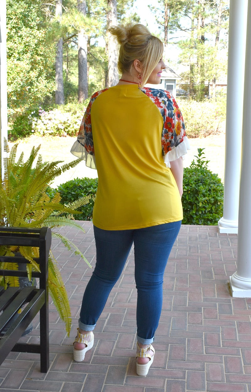 Load image into Gallery viewer, I Get You Floral Top - Marigold