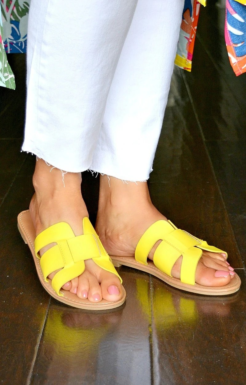 Load image into Gallery viewer, Always In Motion Sandals - Yellow