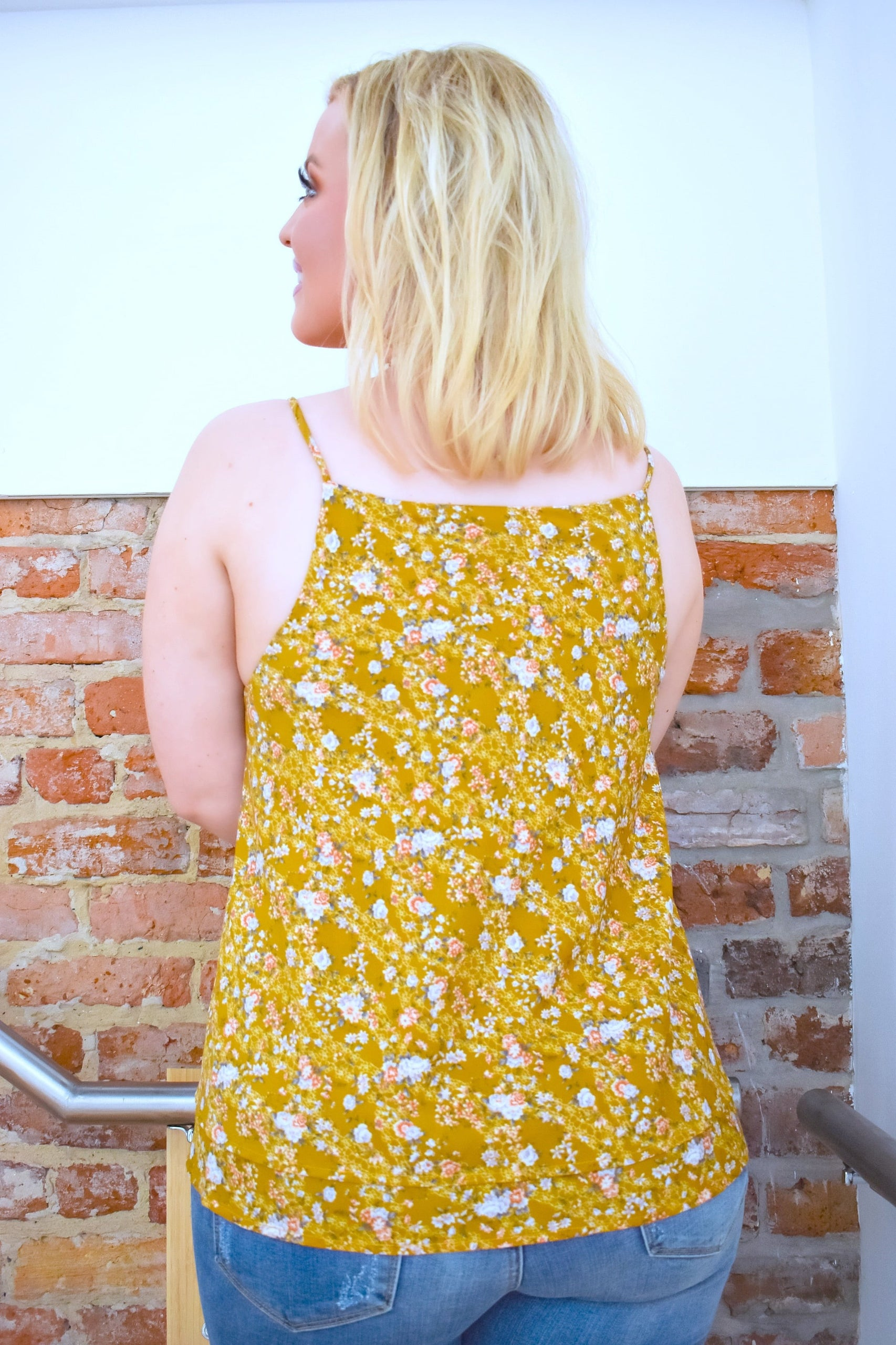 Load image into Gallery viewer, Had Your Shot Floral Top - Marigold