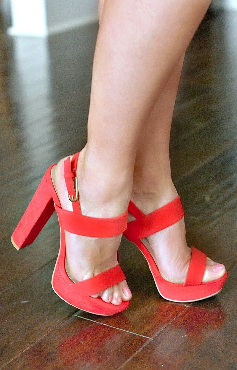 Load image into Gallery viewer, Your Biggest Fan Heels - Red