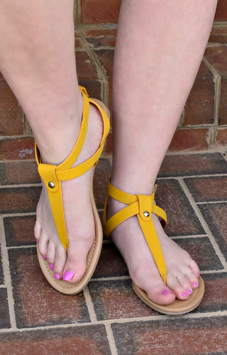 Pure Innocence Sandals - Yellow