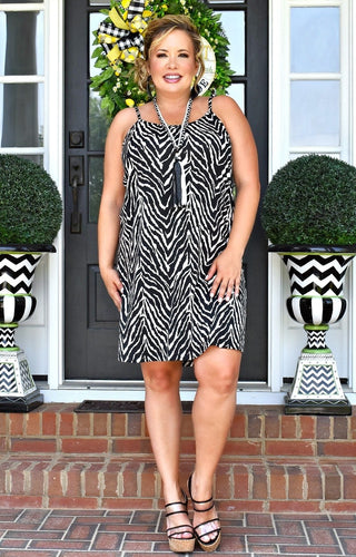 Safari Fever Zebra Print Dress