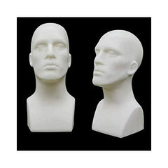Plastic Male Head Mannequin White