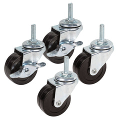 "2"" Industrial Rubber Casters - Set of 4"
