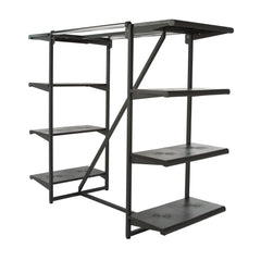 "Double Hangrail Frame w/ 8-24"" Shelves; 1"" Square Tubing"