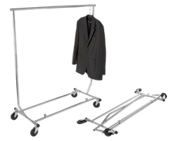 Heavy Duty Salesman's Rack - Collapsible Garment Rack - Round Tubing