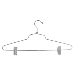 "16"" Steel Combination Hanger w/ Vinyl Cushion Clips and Regular Hook"