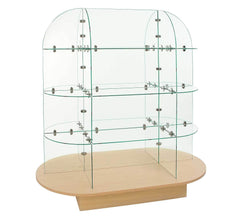 Glass Merchandiser with Oval Base