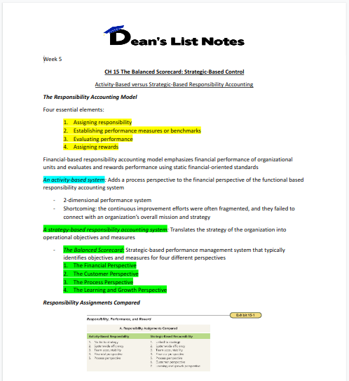 AFA 819 FREE SAMPLE - Inventory Management – Dean's List Notes