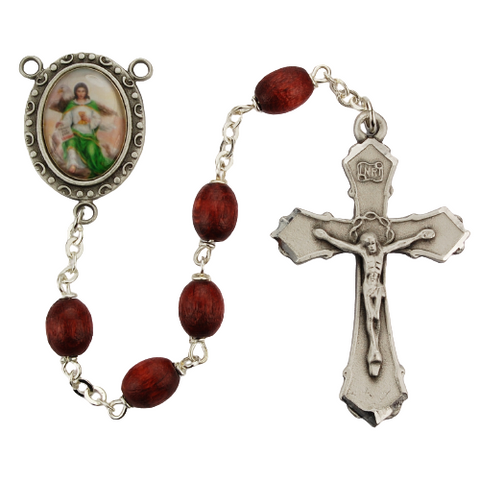 St. John Rosary with 6x8mm Brown Beads