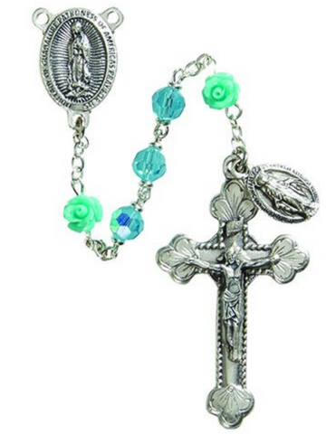 Our Lady of Guadalupe Aqua Rosary