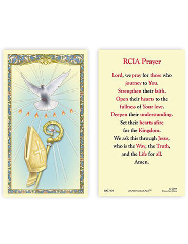 Laminated Holy Card RCIA - 25 Pcs. Per Package