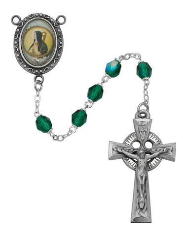 St. Brigid Rosary with 6mm Green Beads