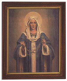 Chambers: Our Lady Of The Rosary Woodtone Finish Frame