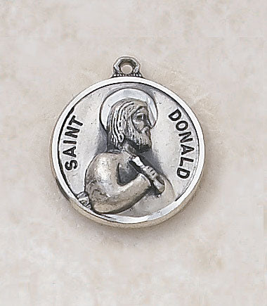 "Sterling Patron Saint Donald Medal w/ 20"" L Chain"