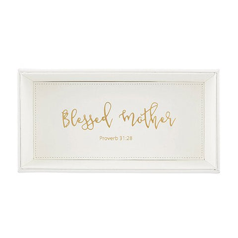 "10"" X 5"" Valet Tray-C - Blessed Mother"