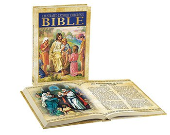 Illustrated Catholic Children's Bible, 4 pcs