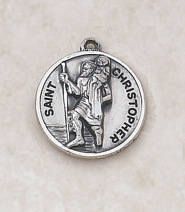 "Sterling Patron St. Christopher Medal w/ 20"" L Chain"
