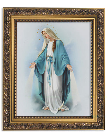 Our Lady Of Grace Ornate Gold Finish Frame